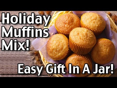 How To Make Tasty Holiday Muffins! Easy Jar Mix Recipe!
