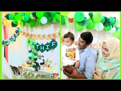 LION KING JUNGLE BIRTHDAY PARTY DECORATION IDEAS AT HOME in BUDGET/DIY TEE PEE TENT