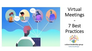 Virtual Meetings - 7 Best Practices