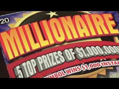 "(NEW) WINNER $20 Pennsylvania Lottery ""Millionaire"" Scratch Off!"