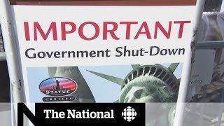 Government shutdown mars Trump's first anniversary