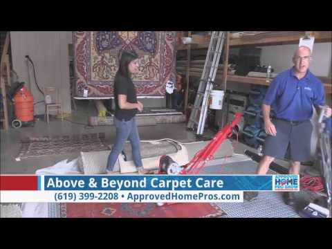 How To Clean Area Rugs   Above U0026 Beyond Carpet Care On The Approved Home  Pro Show