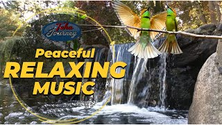 Relaxing Music Nature Sounds Waterfall Birds Singing Sound Piano Music Soothing Spa Music TheJourney