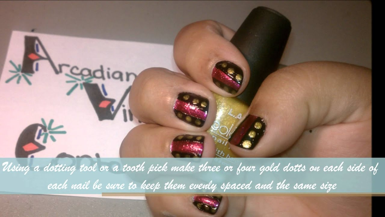 Simple Medieval Clothing Nail Art Youtube