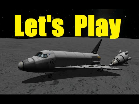 Let's Play Kerbal Space Program - Career Day28 - Shuttle to Moon and Back  - Ep42 - NOELonPC