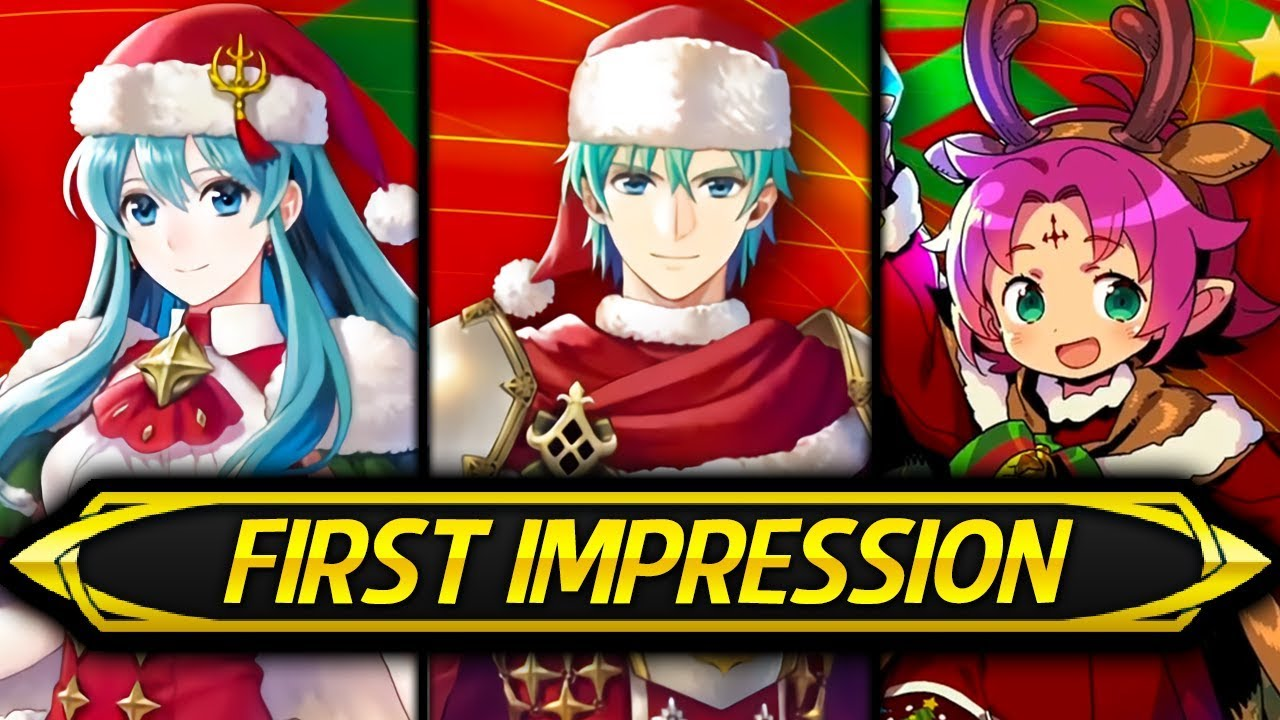 Fe Heroes Christmas.Fire Emblem Heroes First Impression Stat Speculation Winter Fae Winter Eirika Winter Ephraim