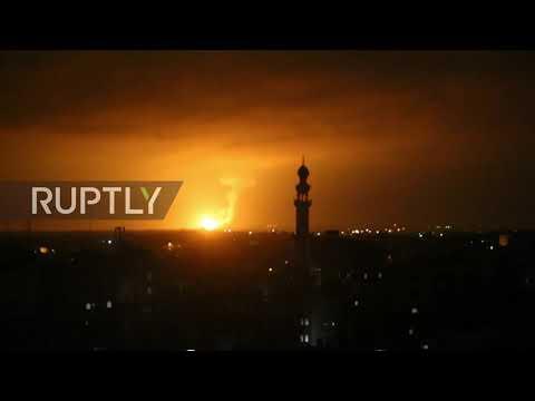 State Of Palestine: Israeli Forces Strike Hamas Targets In Gaza Strip