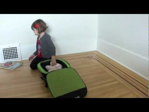 The Safety1st Boostapak Car Booster Seat Backpack Demonstration