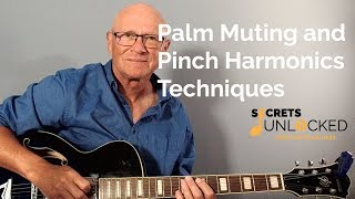 Palm Muting and Pinch Harmonics Techniques | Superstition by Stevie Wonder