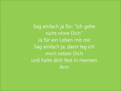 Tim Bendzko - Sag einfach Ja (Lyrics)