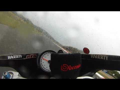 2017 ICGP Grobnik race 2 in the rain Yamaha TZ350.