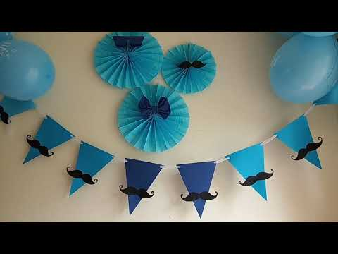 How to make Father's Day Party Banner #banner #bunting #diy #paper #crafts #kids #kidscrafts