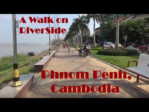Phnom Penh Cambodia - Riverside Walk - Travel Videos of Things to Do in Cambodia