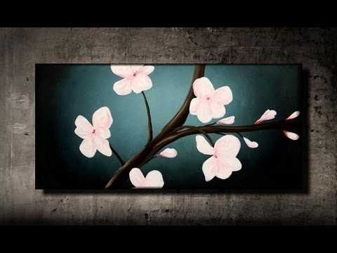 How To Paint Cherry Blossoms Step By Step
