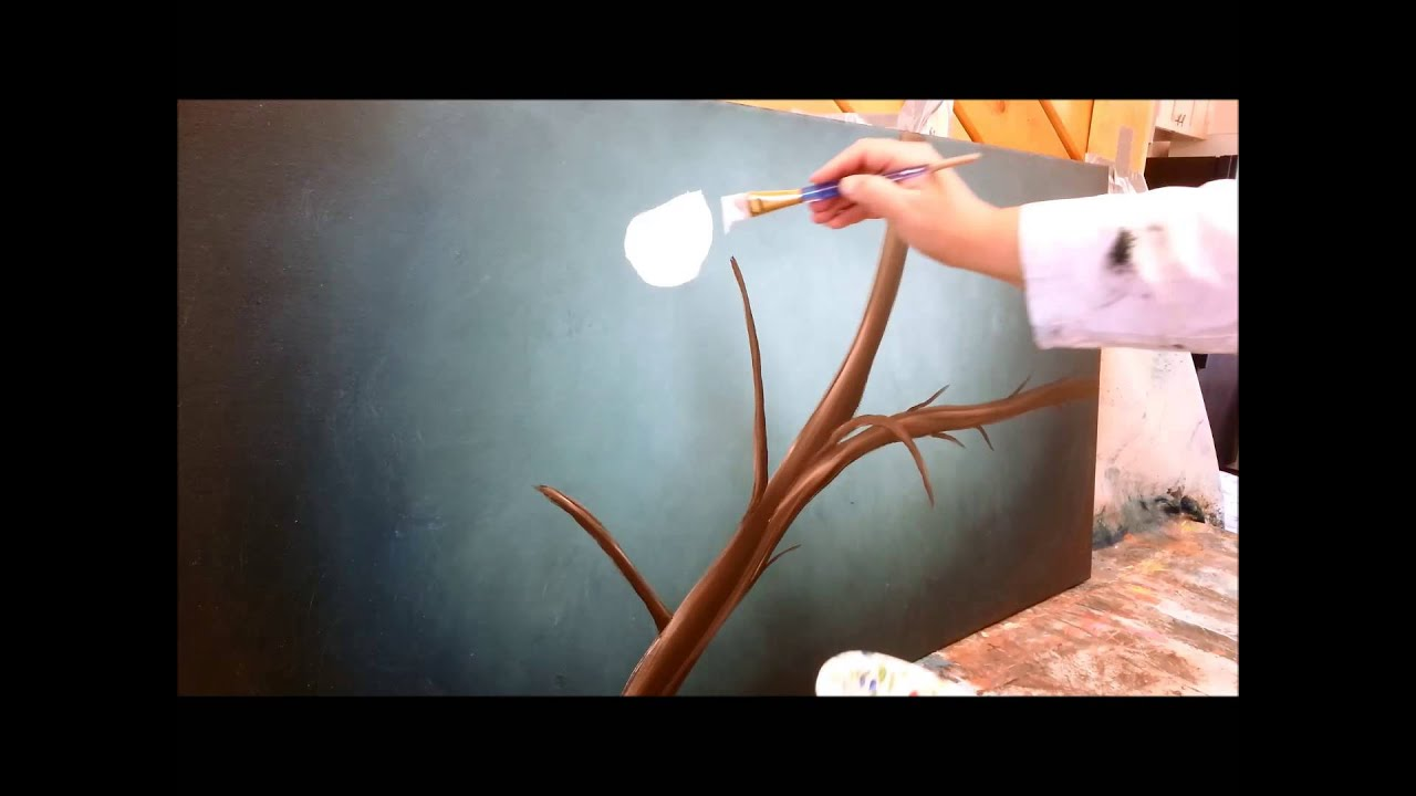 How to paint cherry blossoms STEP by STEP | Doovi