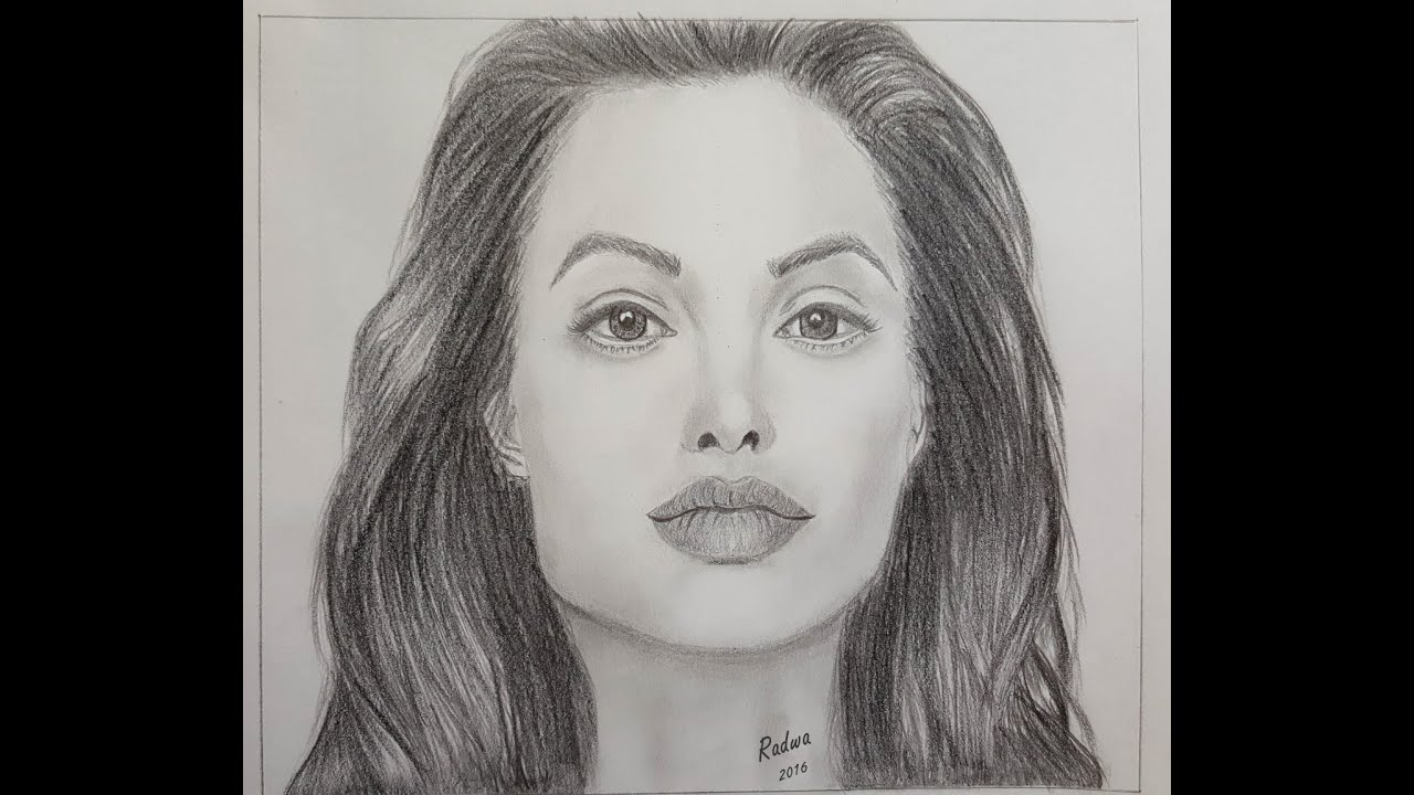 Drawing Angelina Jolie Portrait