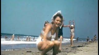 Footage Of Norma Jeane(Marilyn Monroe)On The Beach In 1942 -  Fun In The Sun
