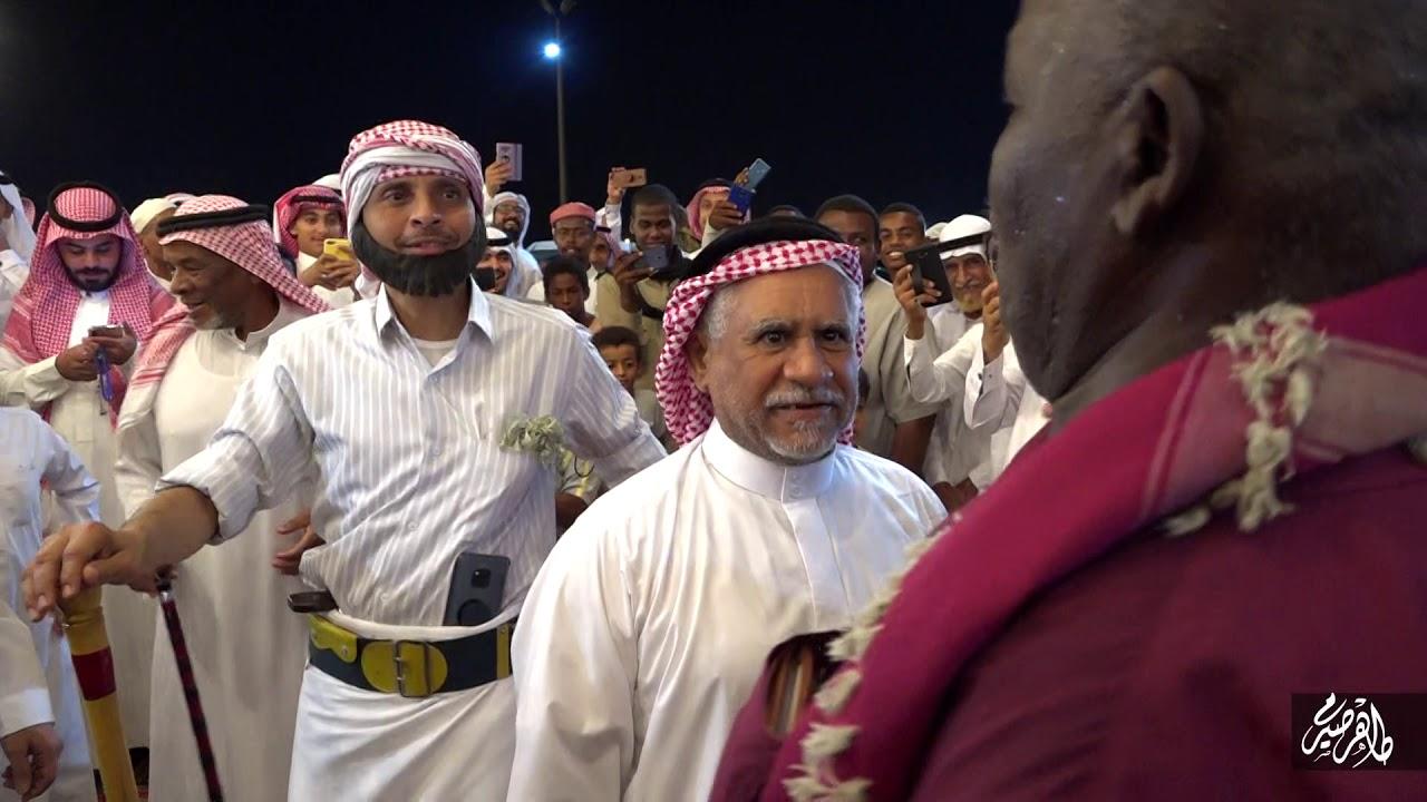 علي سعيد وراعي الكحيله||في مشهد فكاهي|| ضمن حفل زفاف عبدالله ناصر محنشي