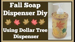 Fall Soap Dispenser Diy 🍁 Using Dollar Tree Dispenser