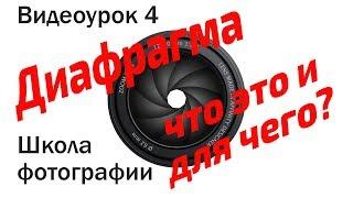 Школа фотографии. Видеоурок 4: Диафрагма