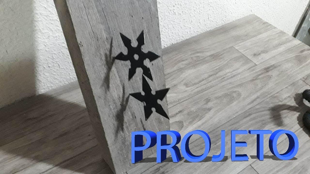 DIY - Fiz algumas Estrelas Ninja Super Afiadas