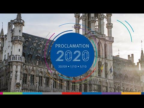 Proclamations des diplômé.e.s sur la Grand-Place de Bruxelles - 1 octobre