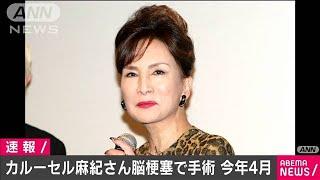 カルーセル麻紀さん、脳梗塞で手術 4月に救急搬送(2020年12月15日) - YouTube
