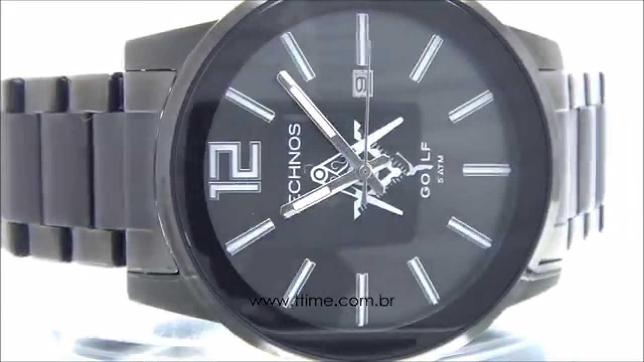 9219939e64b14 Relógio Technos Classic Golf Maçonaria 2115KMU M1P - YouTube