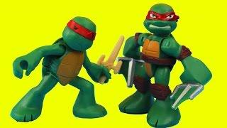 Teenage Mutant Ninja Turtles Shredder and Krang create Robotic TMNT Mikey Raph