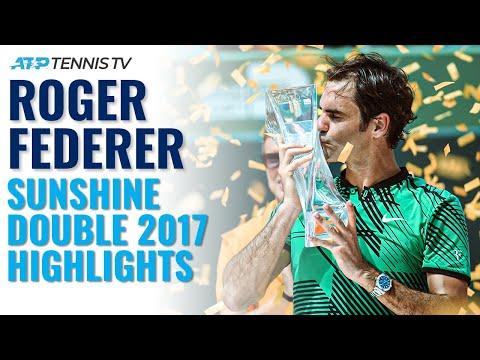 Classic Tennis Highlights: Roger Federer Wins Indian Wells \u0026 Miami 2017!