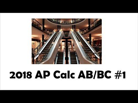 2018 AP Calculus AB/BC FRQ 1