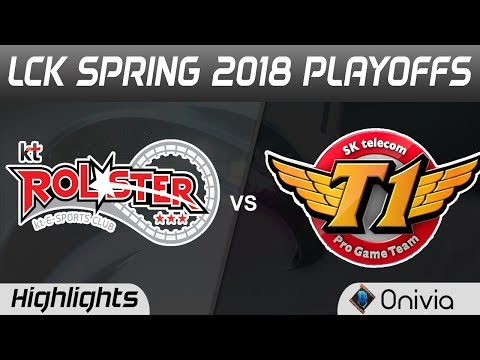 KT vs SKT Highlights Game 1 LCK Spring 2018 Playoffs KT Rolster vs SK Telecom T1 by Onivia