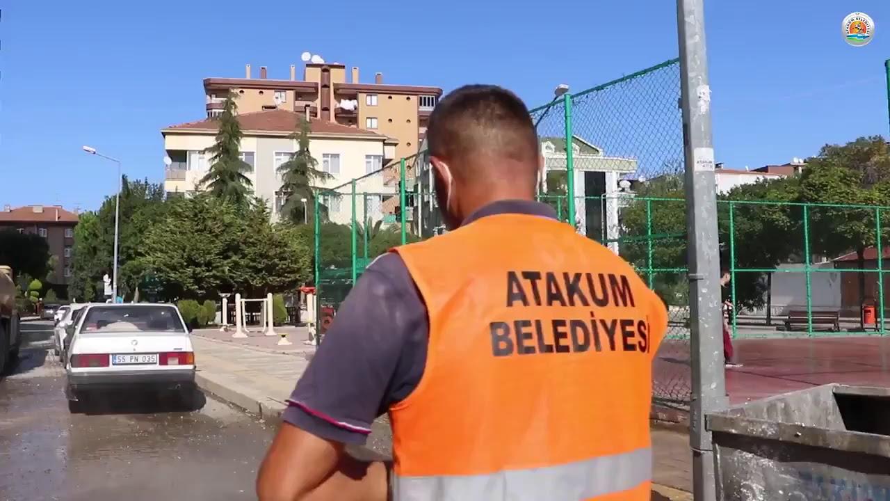 Atakum Belediyesi'nde dezenfekte çalışmaları devam ediyor.