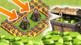 Clash Of Clans - GEMMING NEW UPDATE! UNLOCKING BOMB TOWERS & 25 WALLS! (CoC Buying October Update)