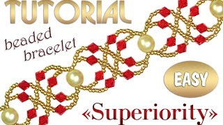 Tutorial: Superiority beaded bracelet – English