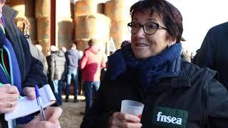 Interview de Christiane Lambert au meeting de la FNSEA à Feuillade