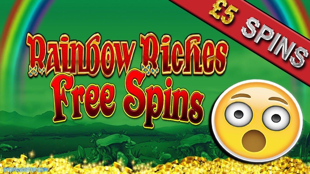 Rainbow Riches Free Spins Slot £5 Spins BONUS!!!!