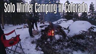 Solo Winter Camping in Colorado