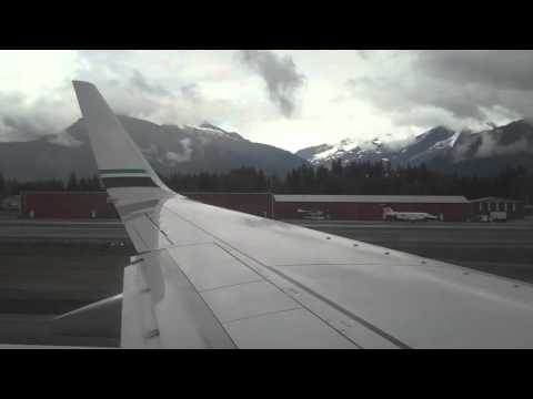 Alaska Airlines 737-800 Takeoff from Juneau, AK