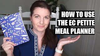Meal Planner - How to Meal Plan Using the Erin Condren Petite Meal Planner