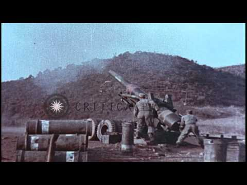 Various weapons of field artillery of United States Army in United States. HD Stock Footage