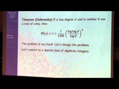 What is the smallest non-zero integer?, Frank Calegari
