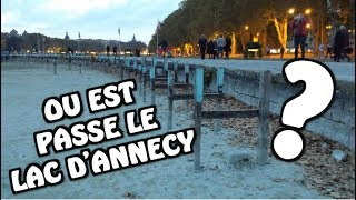 SECHERESSE LAC ANNECY 26 OCT 2018 - BAISSE RECORD