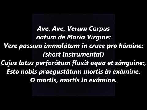 Ave verum corpus Mozart solo LYRICS WORDS BEST TOP POPULAR FAVORITE TRENDING SING ALONG SONGS
