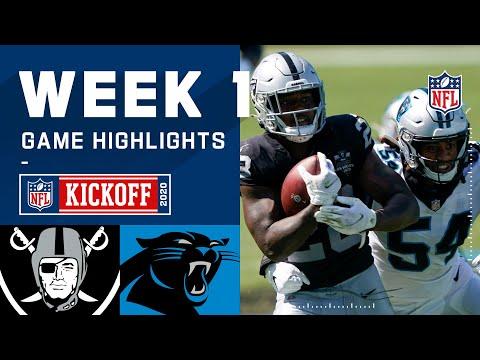 Raiders vs. Panthers Week 1 Highlights | NFL 2020