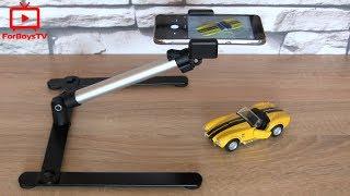 Как снимать видео сверху над столом - настольный штатив для телефона (GoPro) с Алиэкспресс