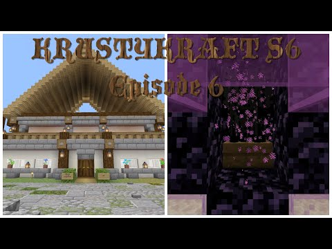 Let's Play KRUSTYKRAFT S6 Minecraft PS4 Finishing the Spawn House and Gear Work! (6) #Roadto1000