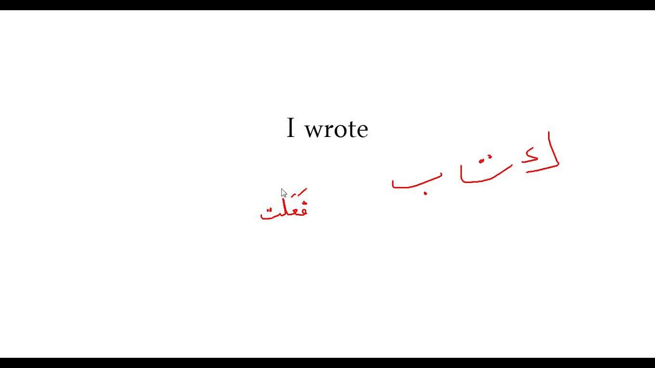 Lesson 3 Past Tense Verb Arabic 101 Youtube