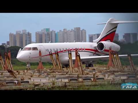 [SBFZ/ FOR] Pouso RWY13 Bombardier BD-700-1A10 Global Express PR-VDR 05/04/2017