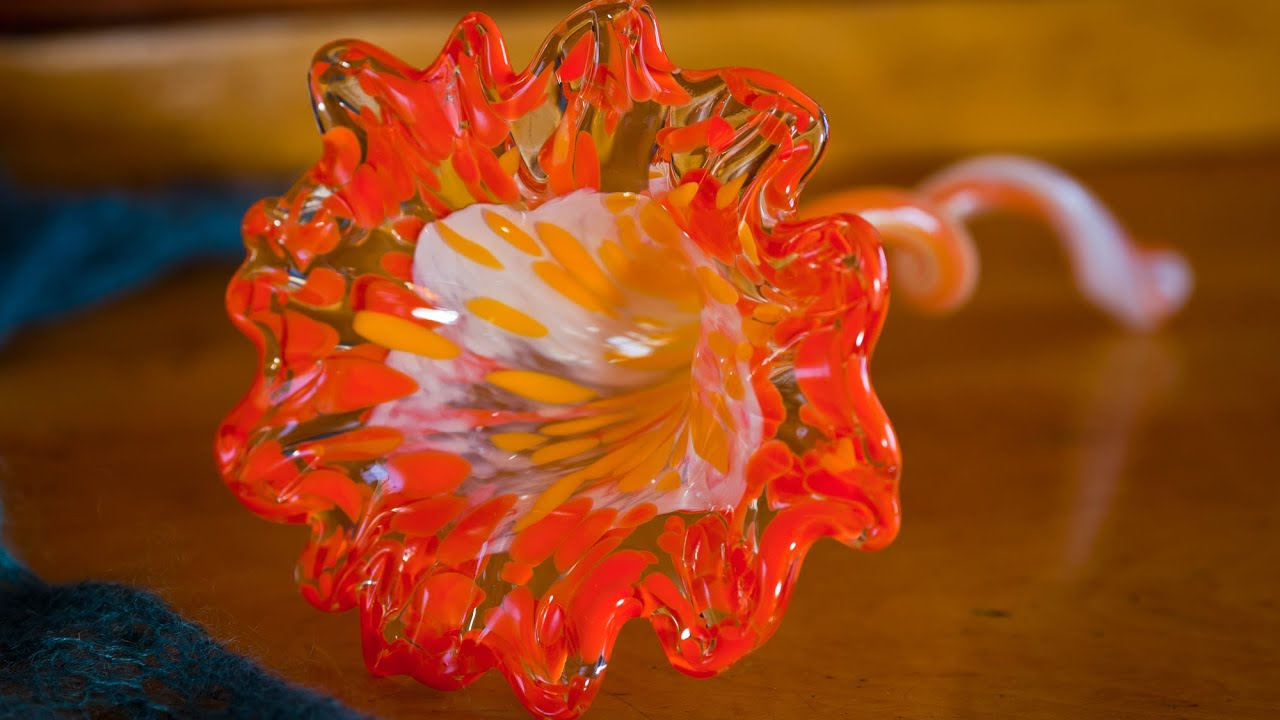 Make your own glass flower youtube for Flowers made of glass